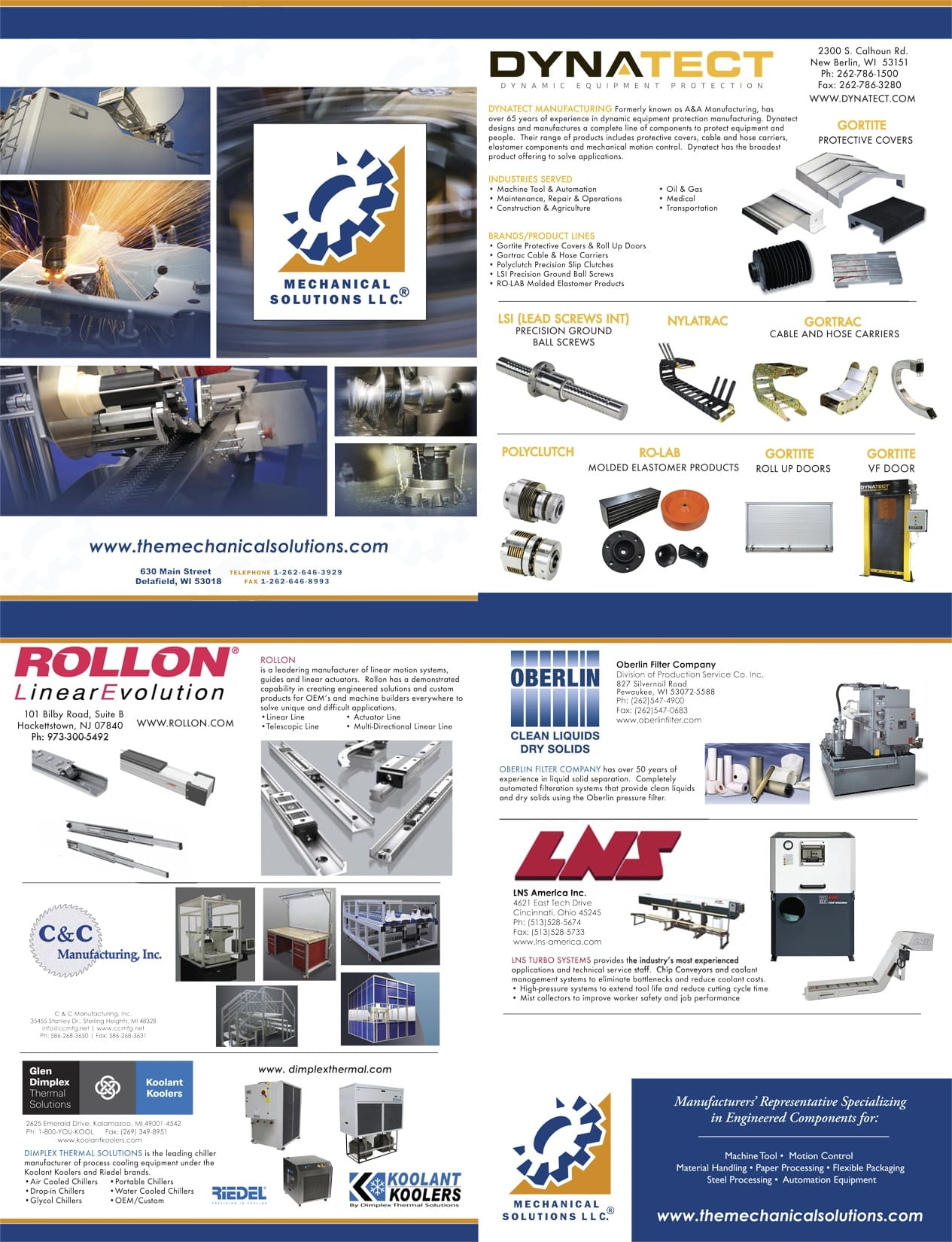 Mechanical Solutions line card